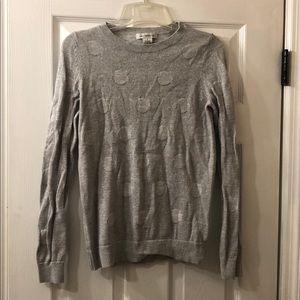 Liz Claiborne Silver Gray Sweater Small